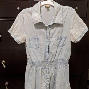 Acid washed Denim chambray jean dress